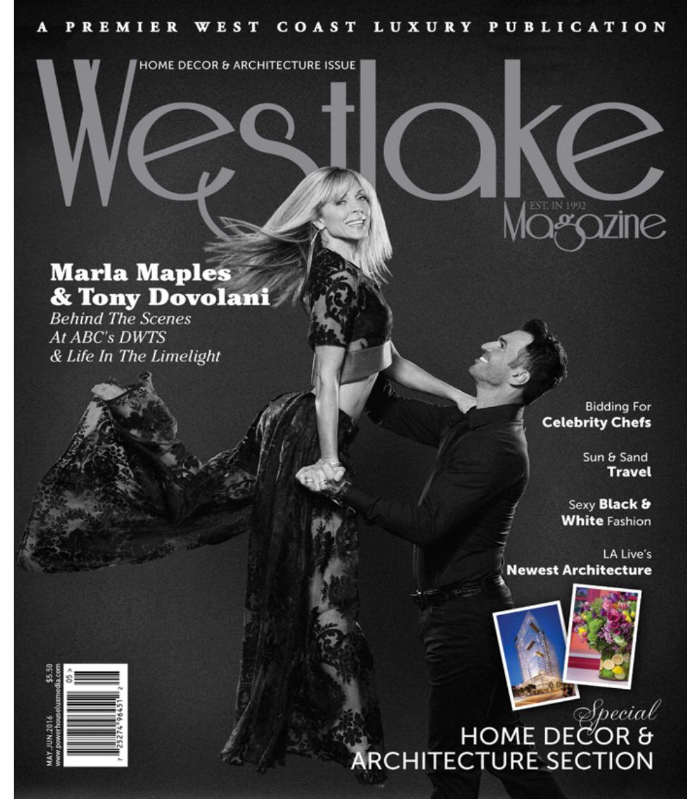 May/June '16 Westlake Magazine Cover with Tony Dovolani