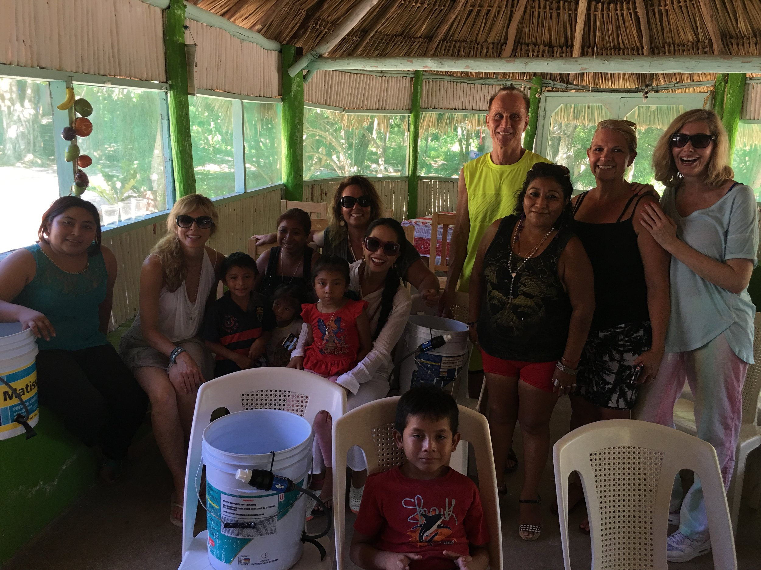 Water Distribution Life Source Retreats with Marla Maples Tess Mauricio, Michelle Young, Michele Clark and Rico at Dos Palmas August 11 2016.JPG