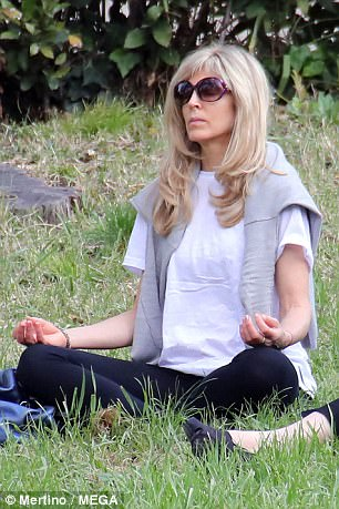 Who needs Mar-a-lago? Marla Maples practices yoga at Villa Borghese in Rome  - Daily Mail