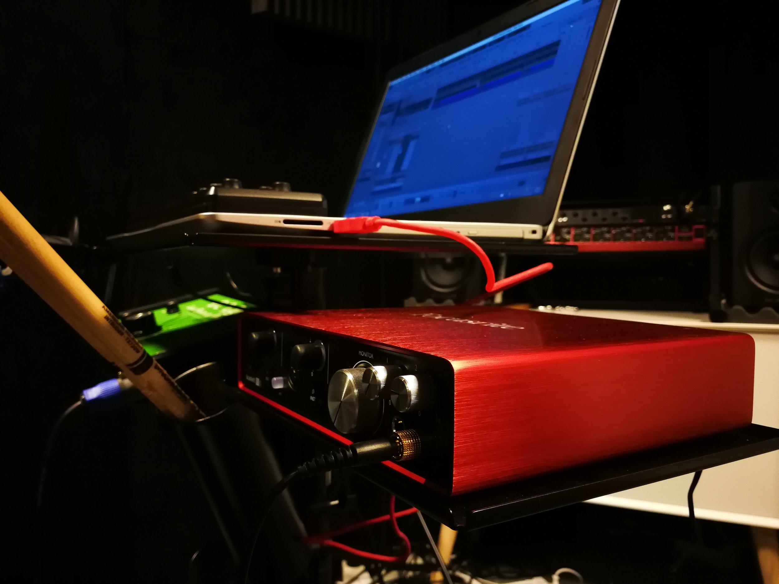 Focusrite Scarlett 6i6 audio interface.