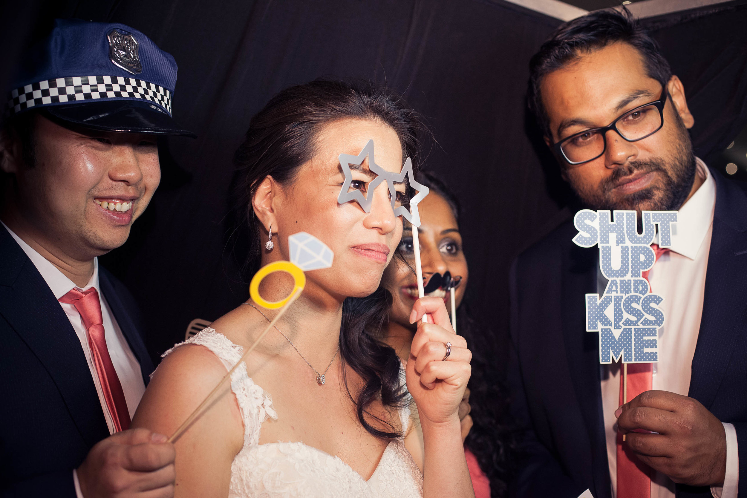 Bridal Party in Photo Booth
