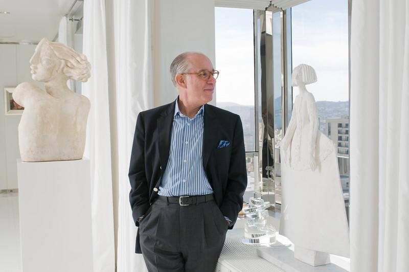 Andy Skurman at his  Nob Hill Apartment