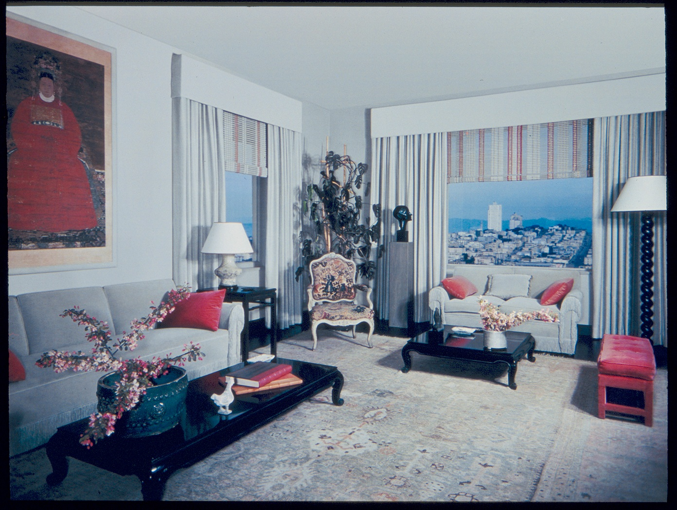 Frances Elkins living room Interiors