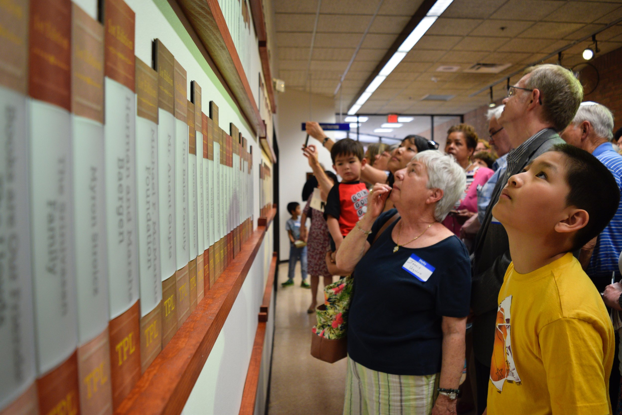 Library Endowment Donor Wall Unveiling