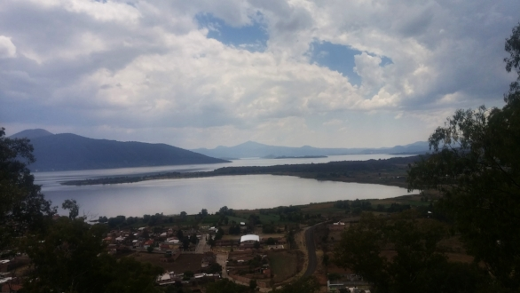 View of the town and lake of Patzcuaro from friend's home.