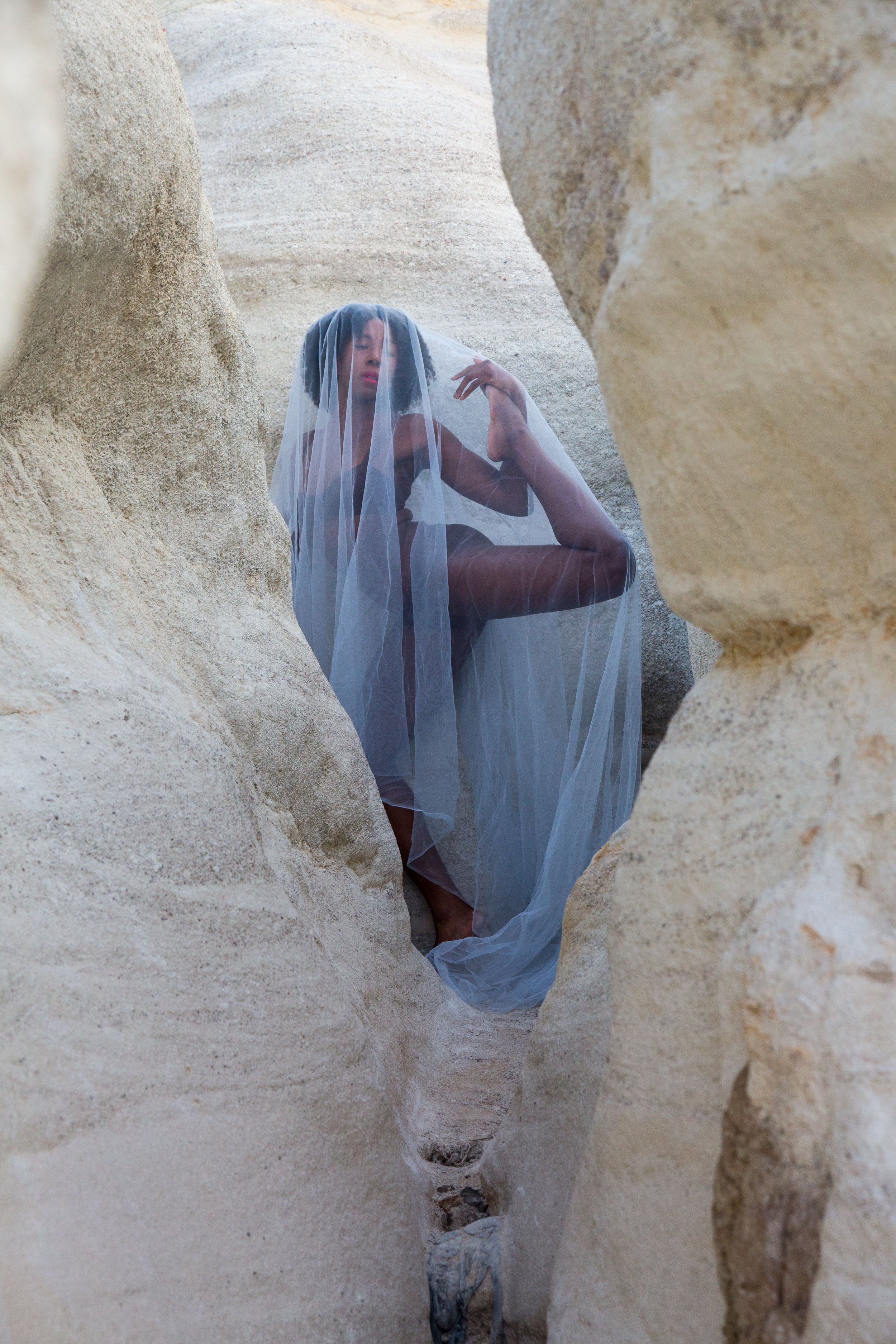 Sierra Voss Photography Paint Mines Girl In Blue Paint Mines