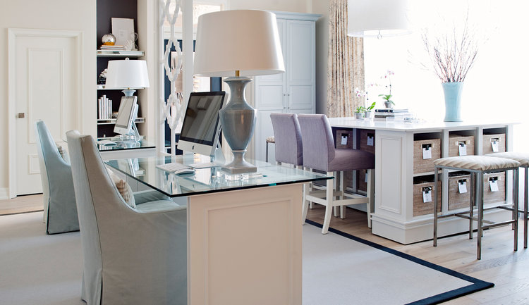 Office renovation modern glass desk attard construction.jpg