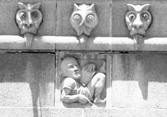 Enlargement of detail, CML Building, 1970