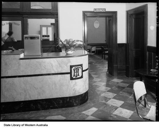 Reception Desk, Federal hotel, 1953