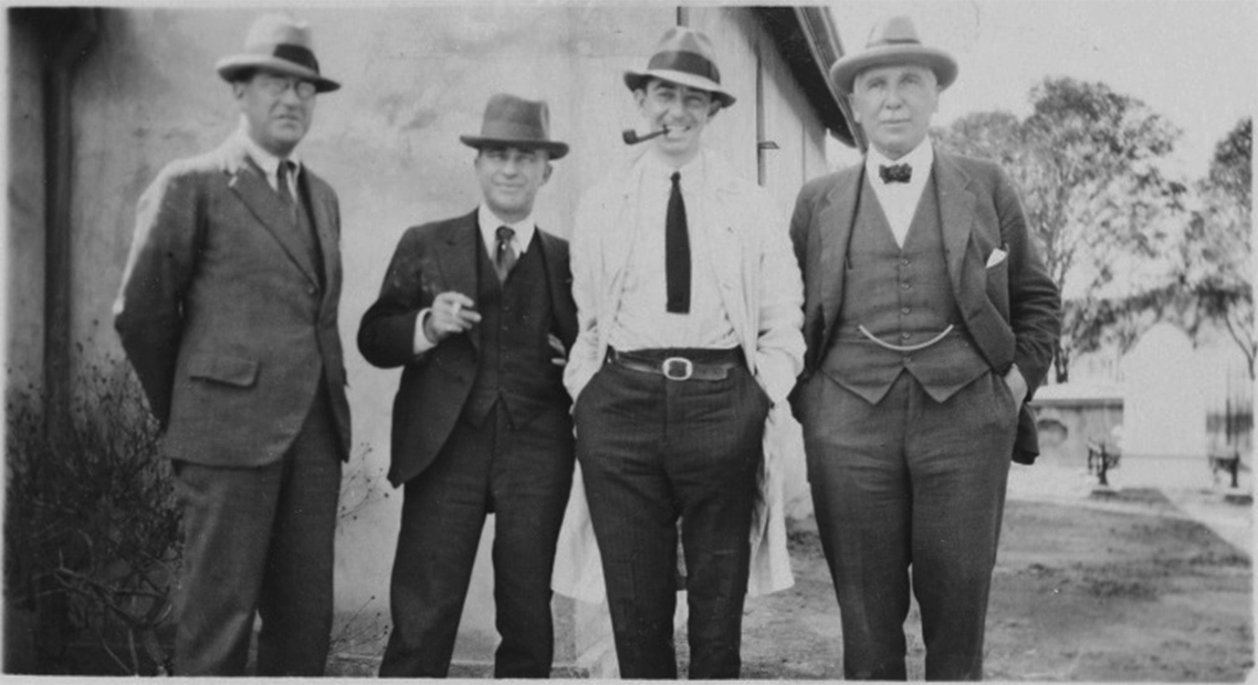 Colin Ednie-Brown, third from the Left