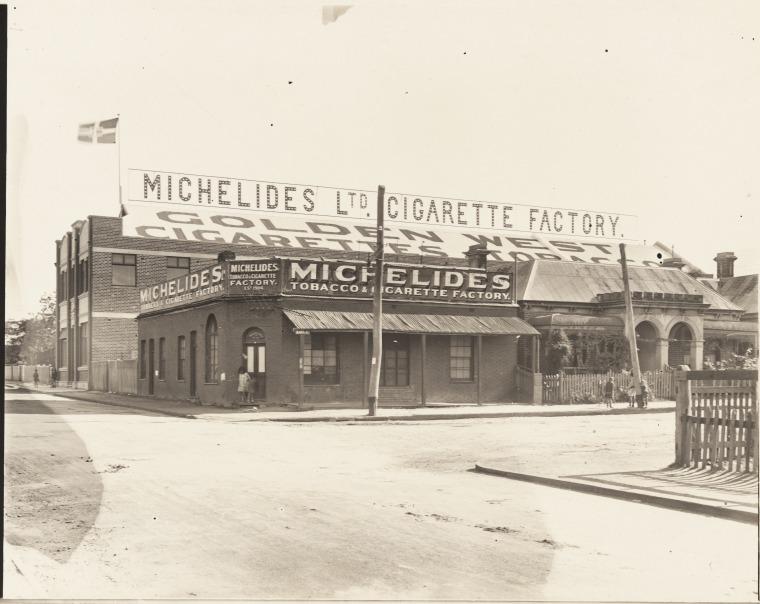 Michelides Tobacco & Cigarette Factory, ca 1925