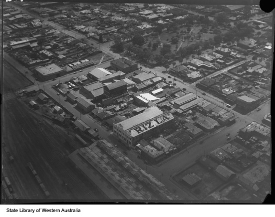 Michelides Tobacco Factory from the air, 1935