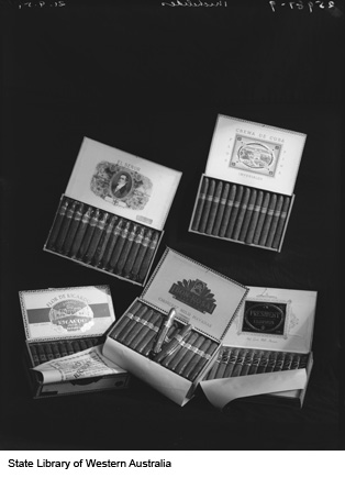 Boxes of cigars produced by Michelides, Ltd, 1951