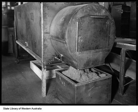 Tobacco shredding machine, Michelides Ltd, 1951