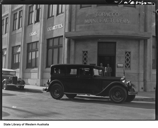 Entrance of Michelides Tobacco Factory, 1936