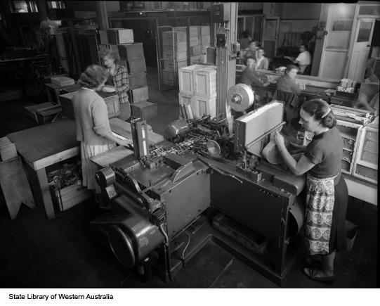 Cigarette paper production, 1951