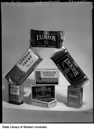 Packages of loose tobacco, produced by Michelides Ltd, 1951
