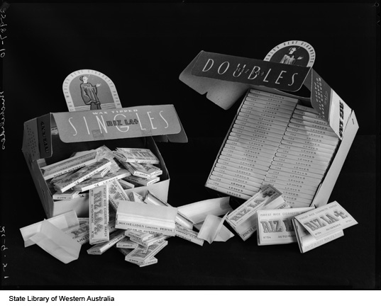 Single and double cigarette papers, produced by Michelides Ltd, 1951