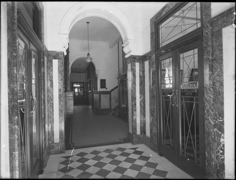Lobby of T & G Building, 1932