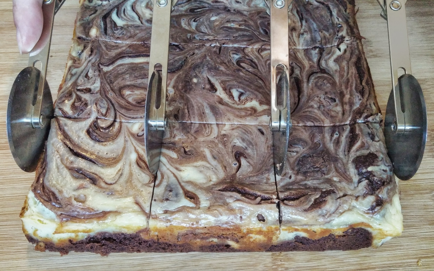 Cream Cheese and Nutella Marbled Brownies - Fudgy and Decadent