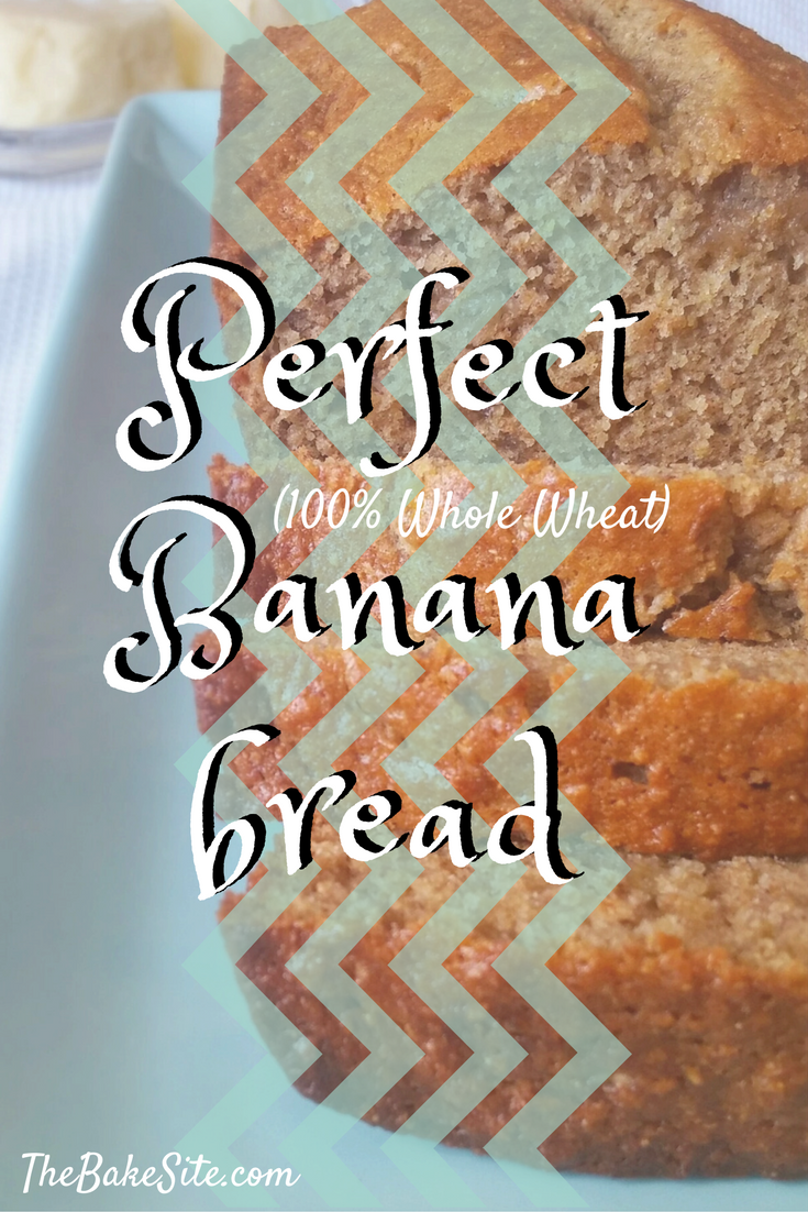 Perfectly moist, not too sweet, and gently spiced. This banana bread is perfect. It's also made with 100% whole wheat flour and is low in sugar!
