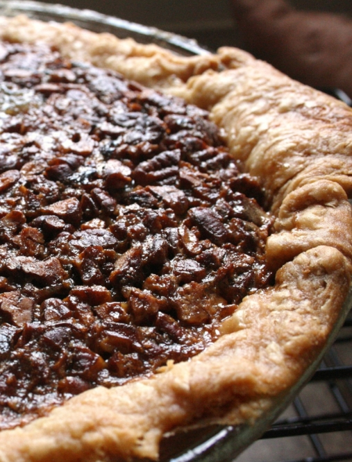 Pecans caramelize and form a crust on top of this perfect pecan pie