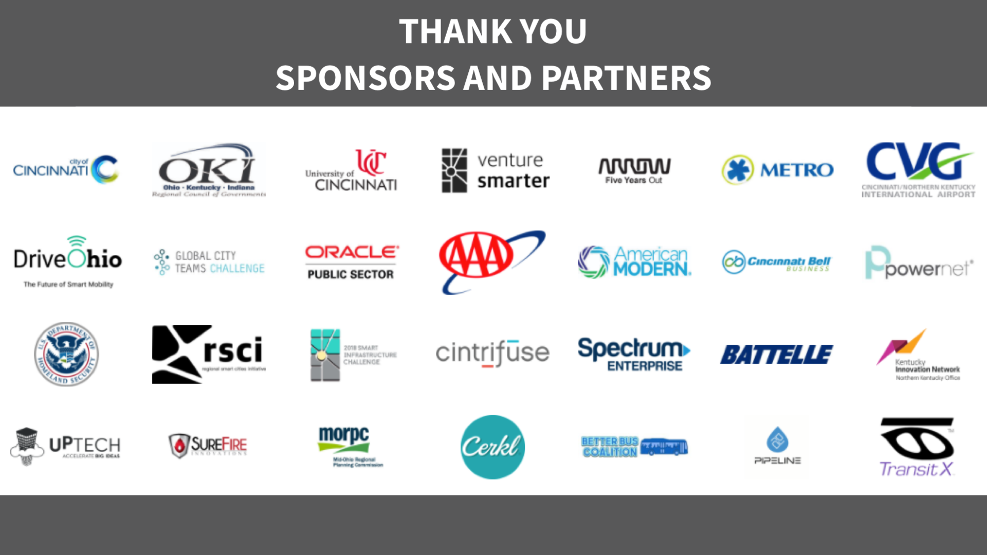 Smart Cincy Summit 2018 Partners and Sponsors