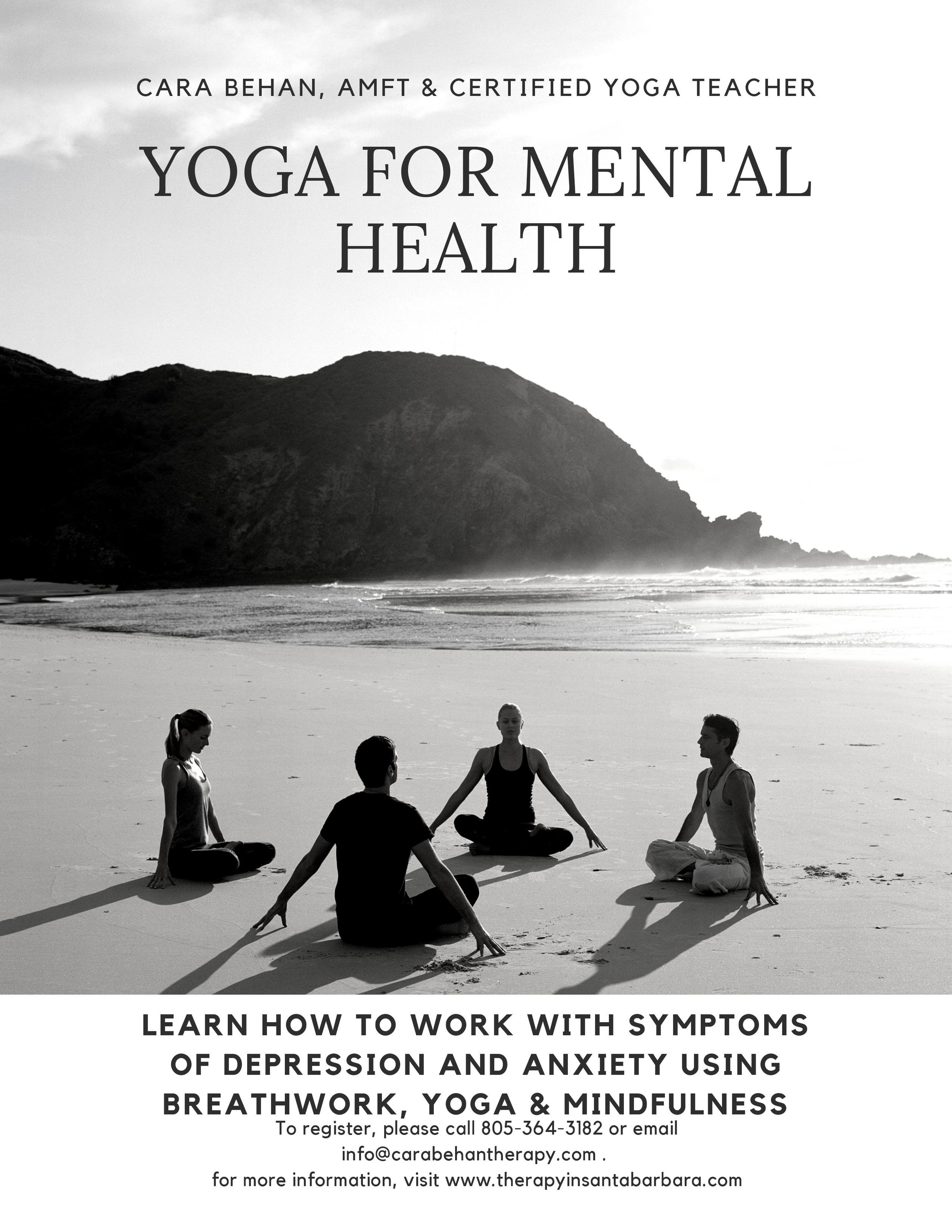 CLICK HERE TO RESERVE YOUR SPACE   https://www.eventbrite.com/e/yoga-for-mental-health-tickets-62609183754