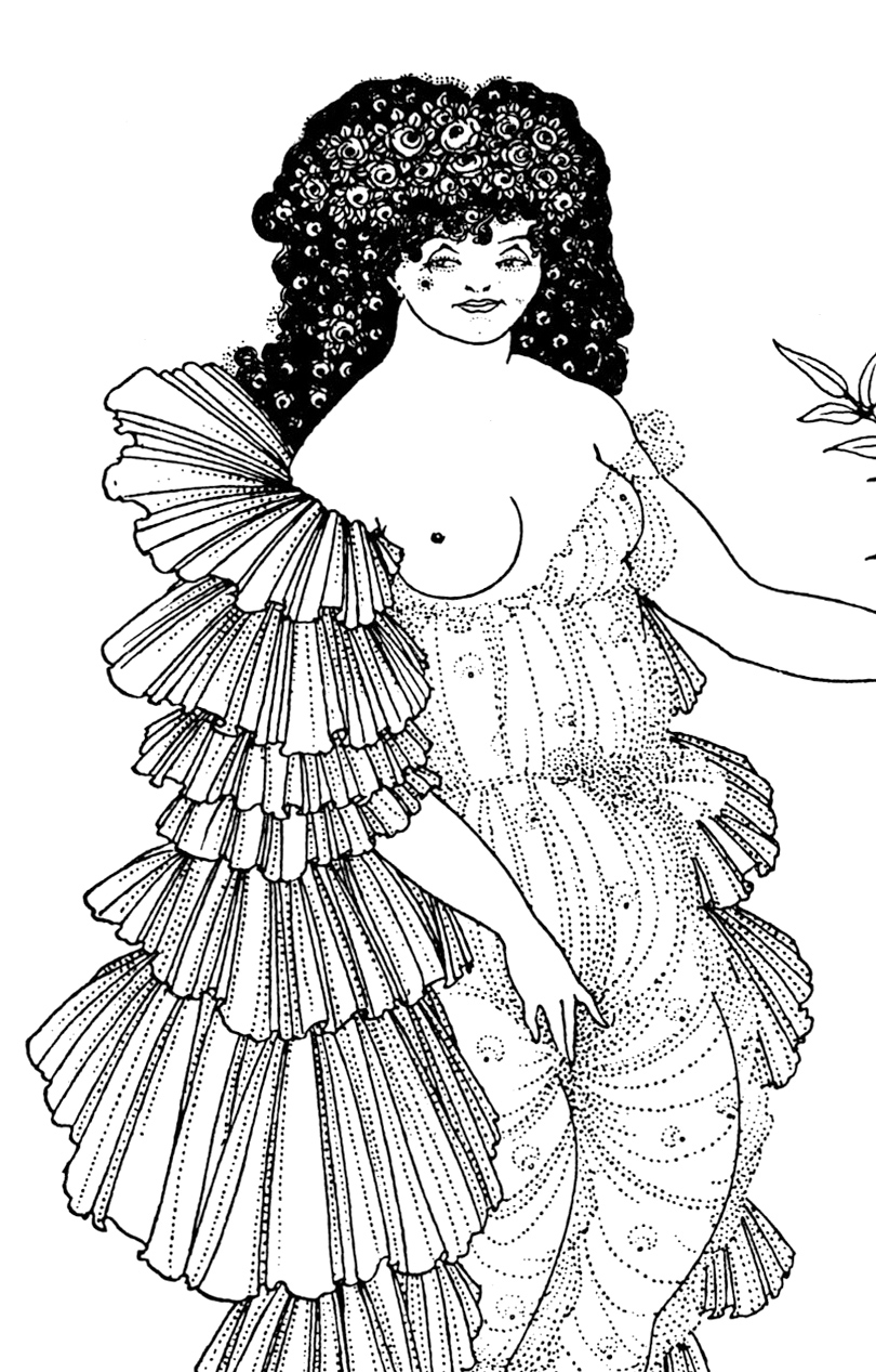 Original drawing by Aubrey Beardsley