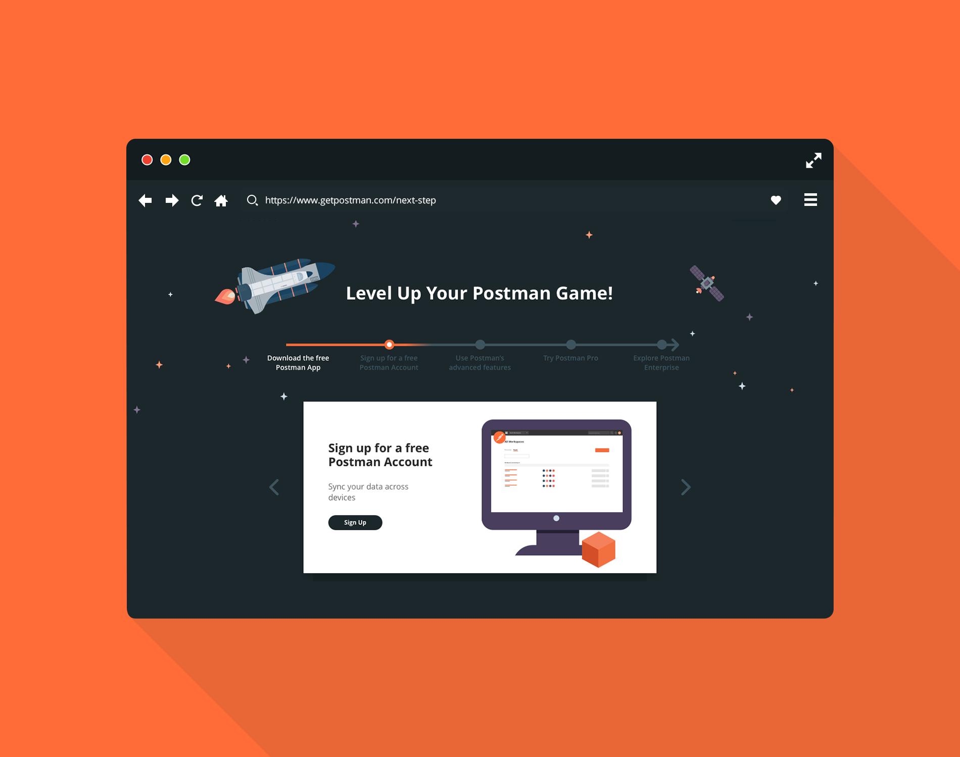 Take the Next Step Landing Page