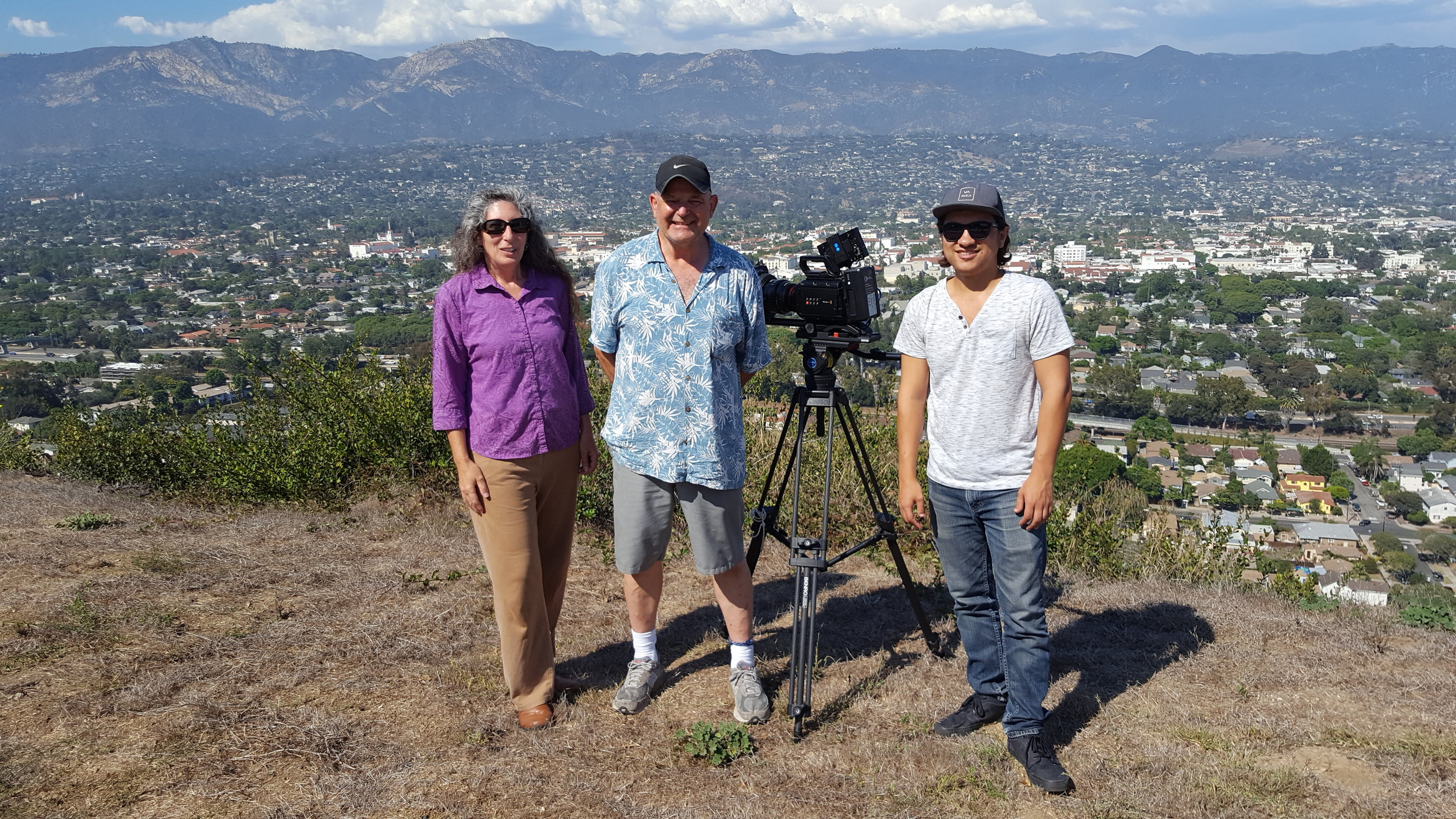Producer Phebe with Director of Photography Howard Wexler and First AD Sean Cisowski