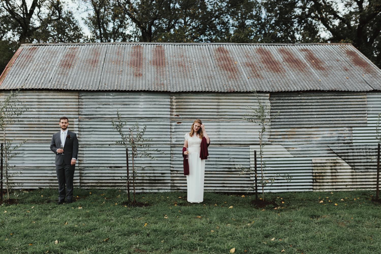 Bridal portraits at Hagley farm in Tasmania with Siida Photograp