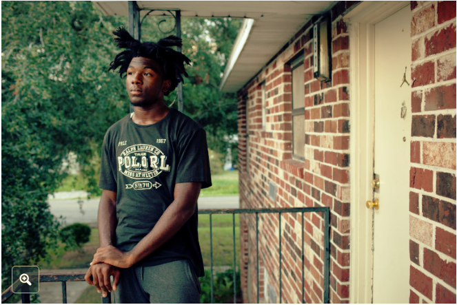 Dequan Jackson, 16, at his home in Jacksonville, Fla. After Dequan was charged with battery at age 13, he and his mother were unable to pay $200 in court and public defender fees, which extended his probation by more than a year. CreditCharlotte Kesl for The New York Times