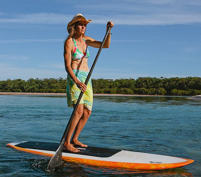 Pam Burridge Stand Up Paddle Training