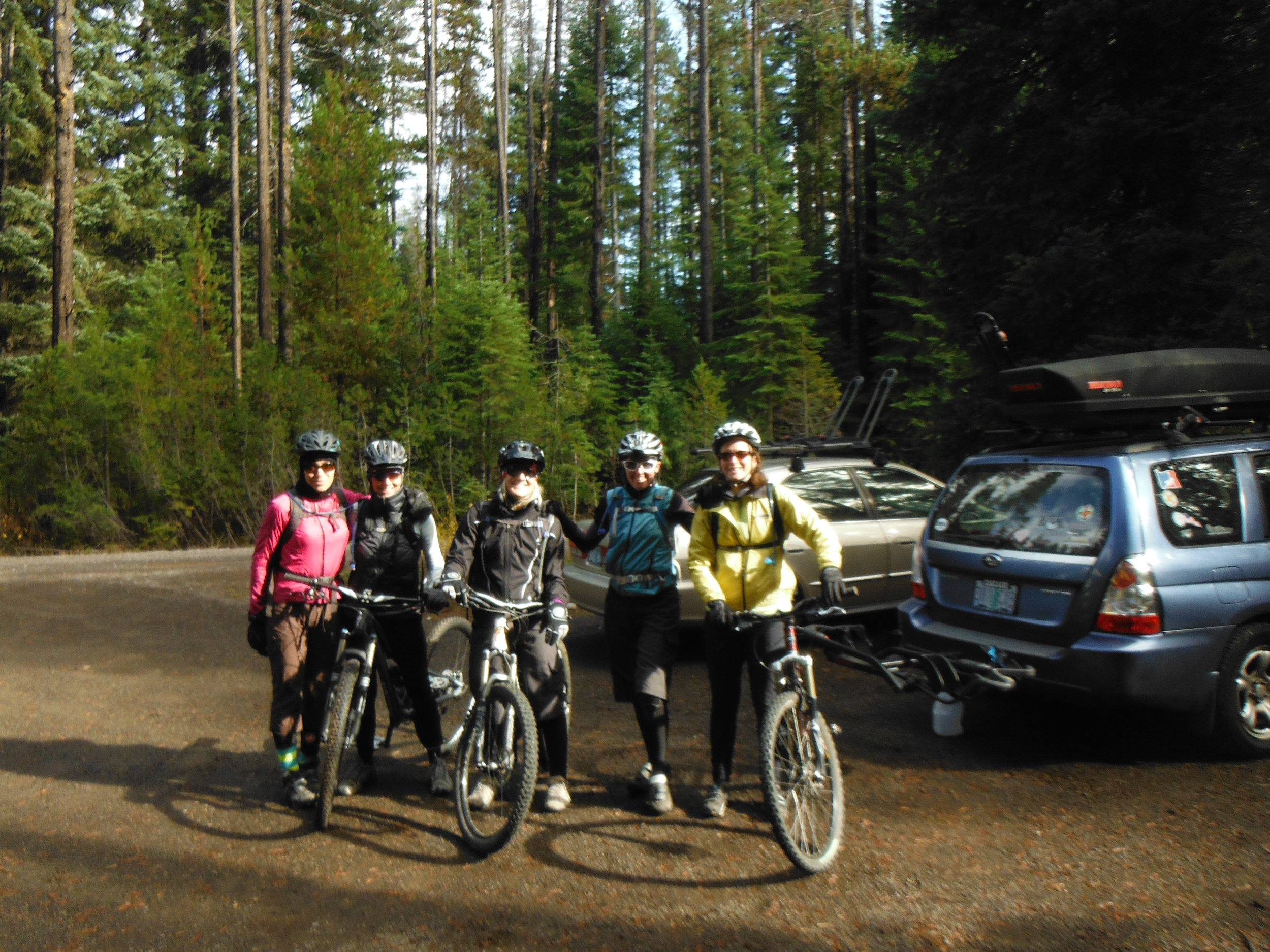 Brown Mountain ladies group ride