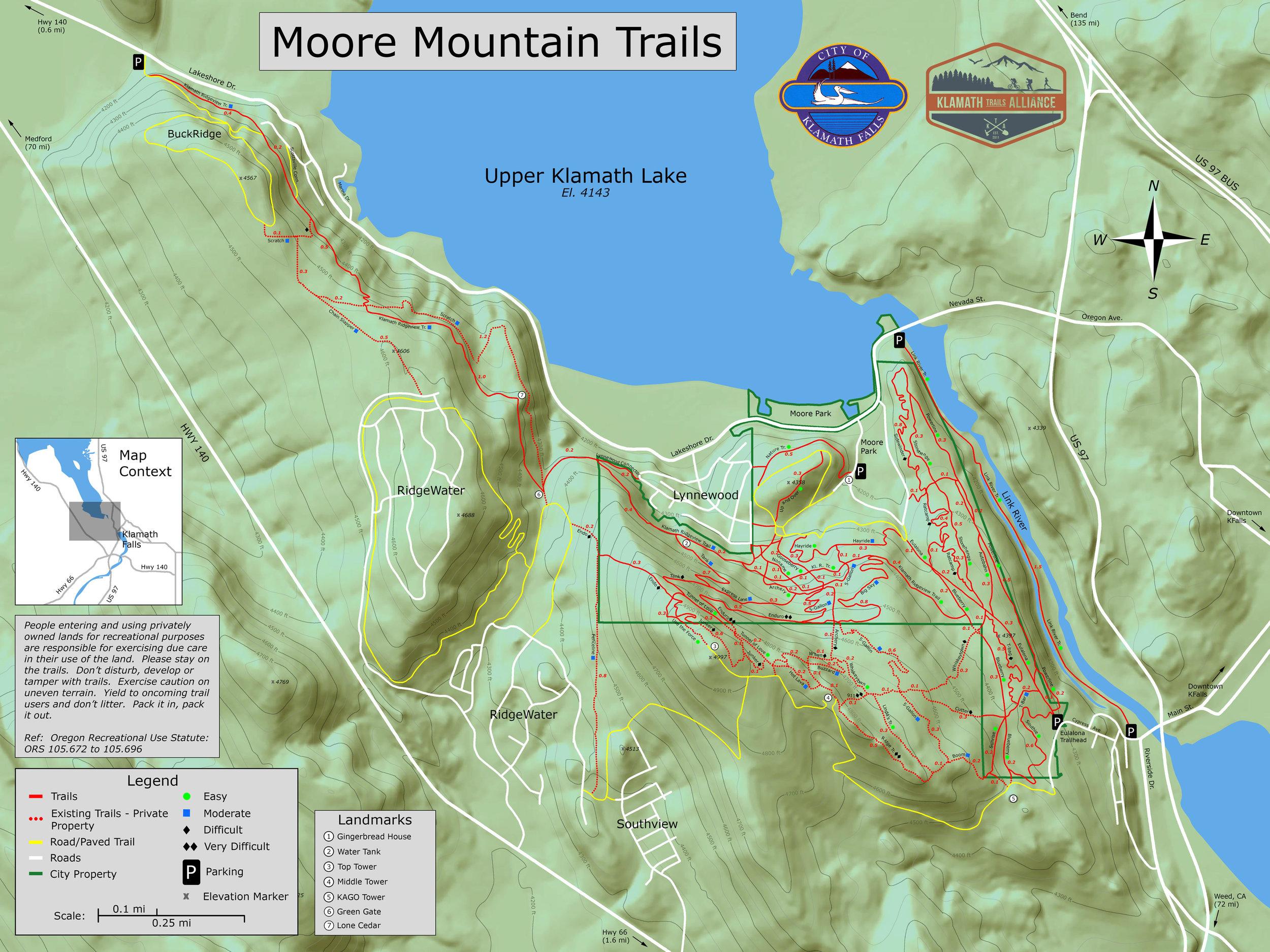 Maps courtesy of Klamath Trails Alliance