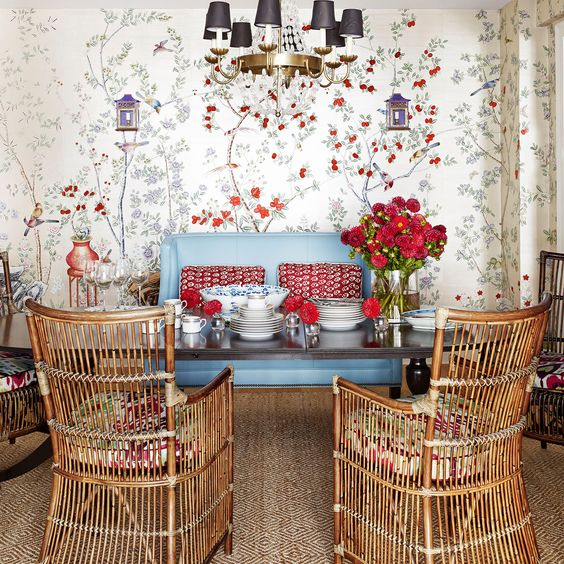 Mark D Sikes knows how to mix red perfectly into interiors
