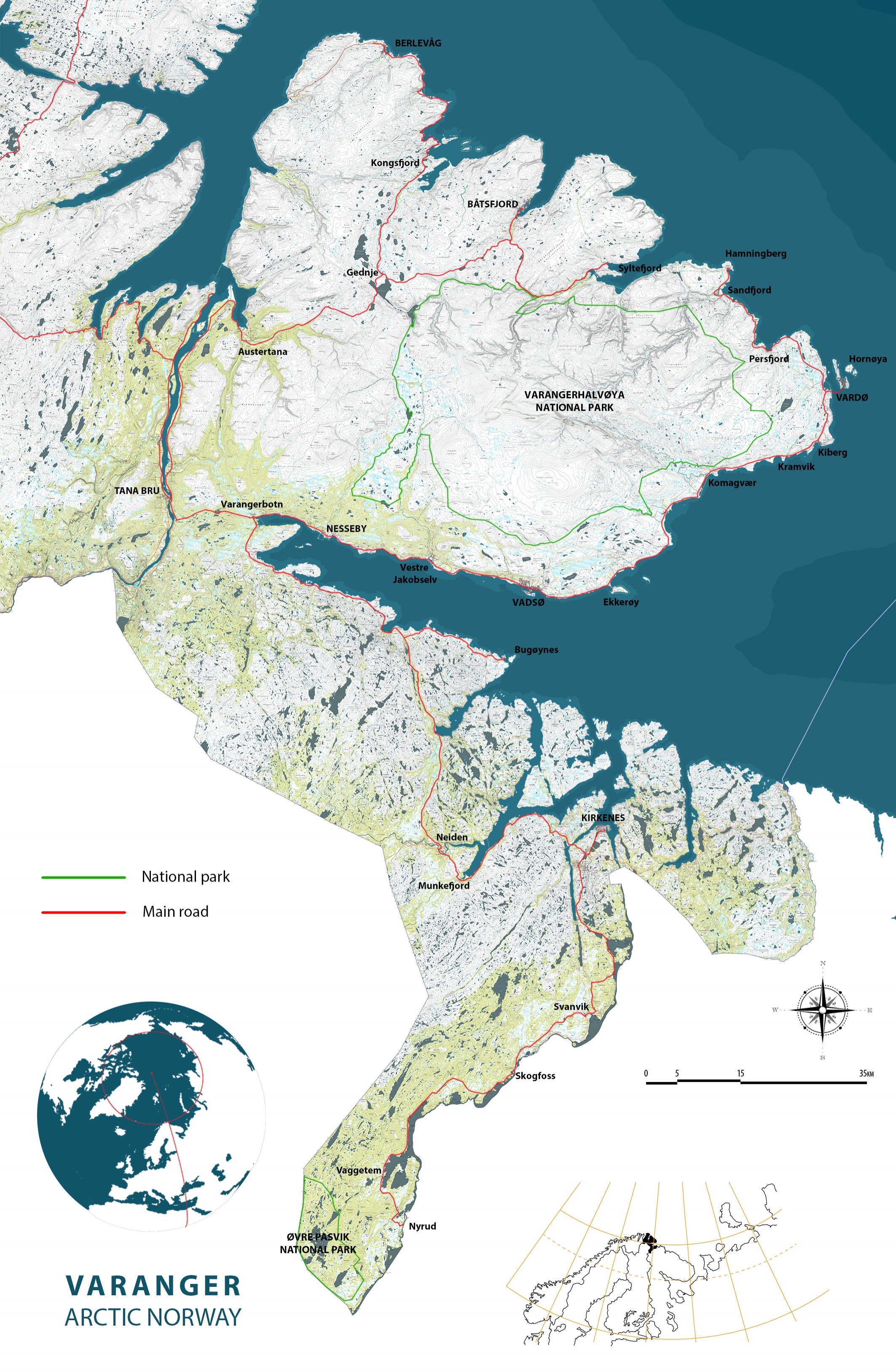 varanger map copyright biotope