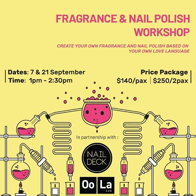 Anyway here are the details of the collaboration workshop between @nomadxsg, @oola.lab and us!  I can't wait to actually do my own custom fragrances on the day itself as well!😂 Sign up link in bio! (And psst there's a special bundle price if you sign up together with a friend!)