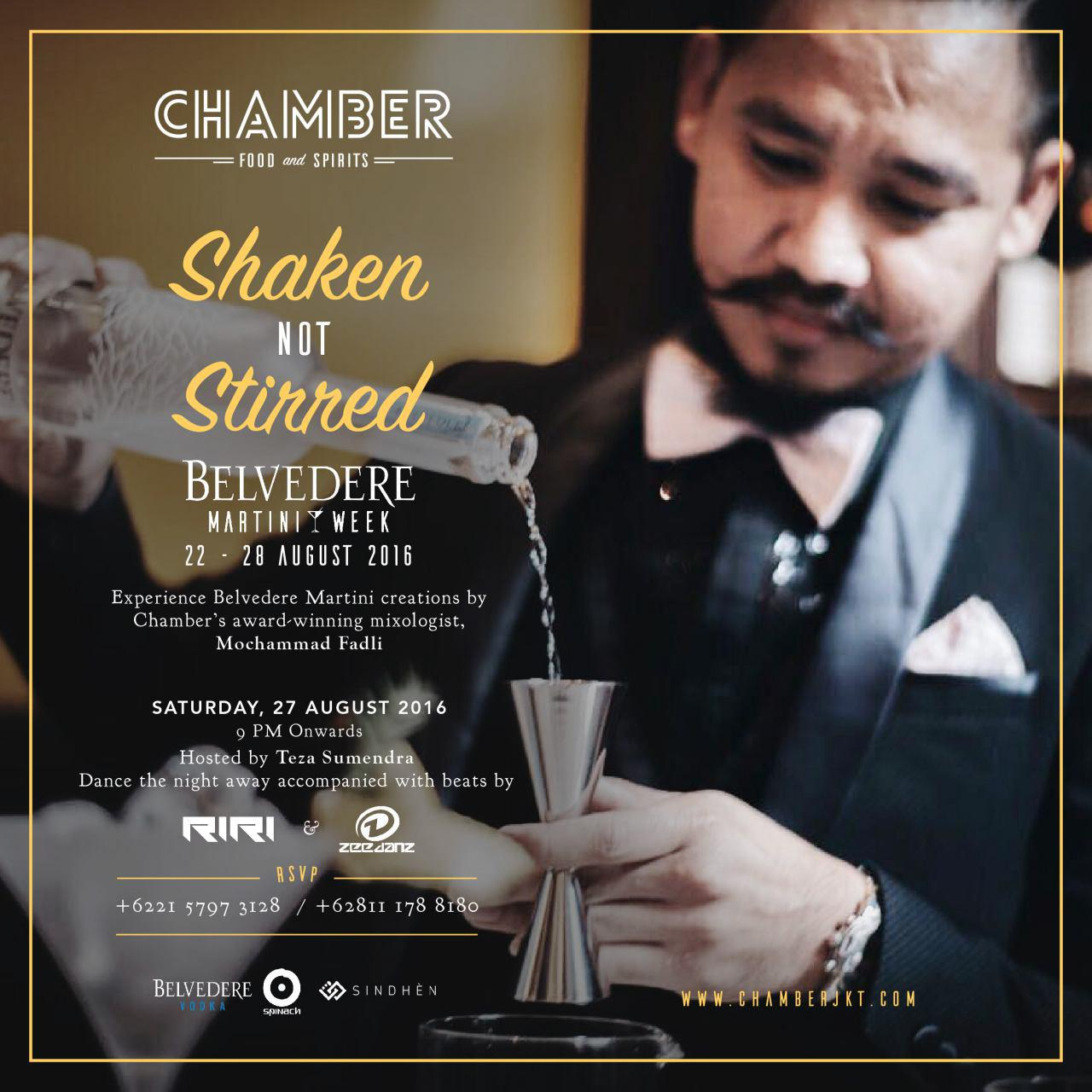 Belvedere Martini Week Chamber Restaurant Pacific Place Jakarta