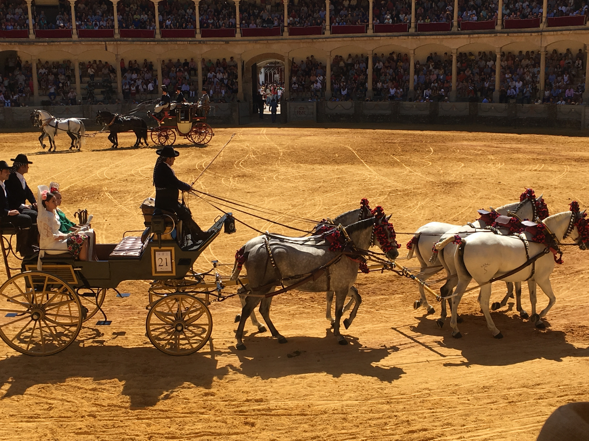 Wonderful displays at the September fiesta close to our luxury villa rental in Ronda, Andalucia, Spain