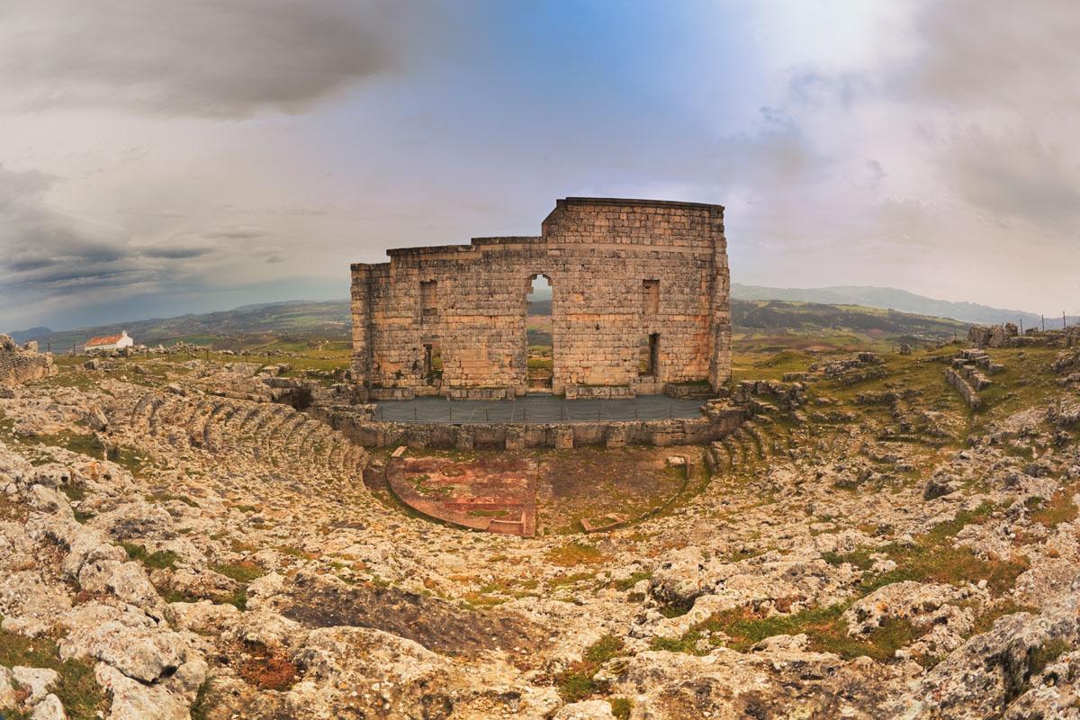 Roman City of Acinipo close to luxury villa La Cazalla de Ronda, Spain