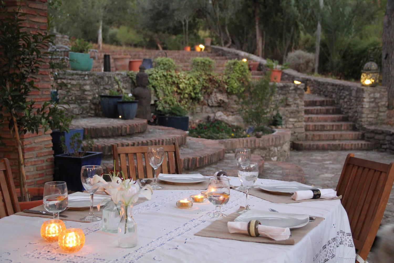 Dining in Ronda, Spain: Terrace with a view at luxury villa rental La Cazalla de Ronda