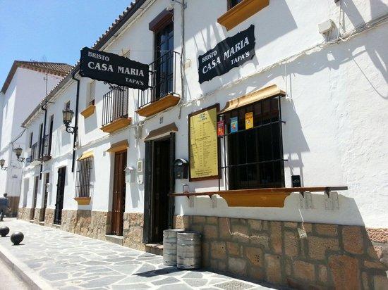 Restaurant close to luxury villa rental La Cazalla in Ronda, Spain