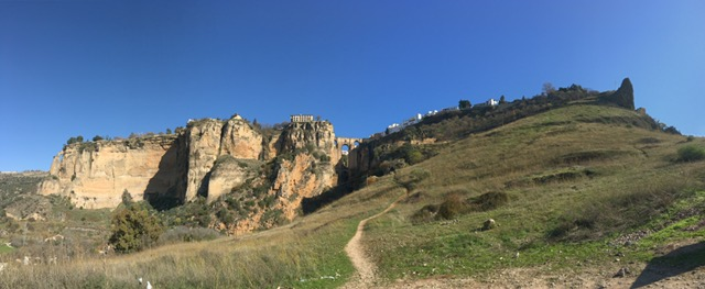 See? This is Ronda on 11th December, 2016, sitting pretty in the sunshine under a blue-blue sky.