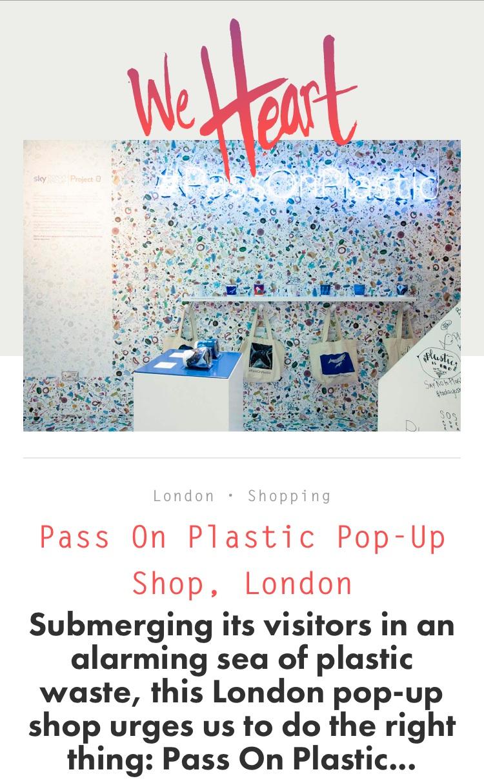 We Heart - Pass On Plastic