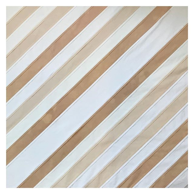 Inside out golden stripes . . . . . #artisan #handcrafted #handmade #london #maker #handmadeinlondon #handmadeinengland #organic #naturaldye #handdyed  #craft #makers #quiltsofinstagram #quilting #quilts