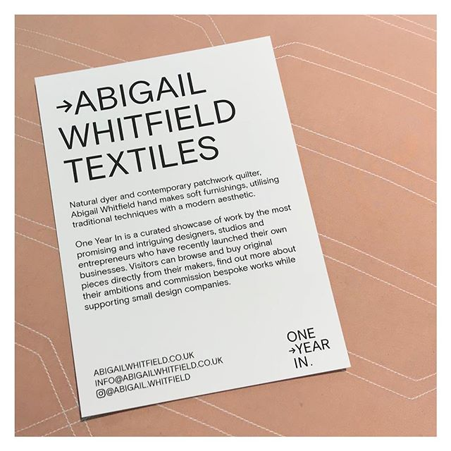 Press and private view of One Year In tonight🍸🍸 . . . . #ND18 #oneyearinthemaking #artisan #handcrafted #handmade #london #maker #handmadeinlondon #handmadeinengland #organic #naturaldye #handdyed  #craft #makers #quiltsofinstagram #quilting #quilts