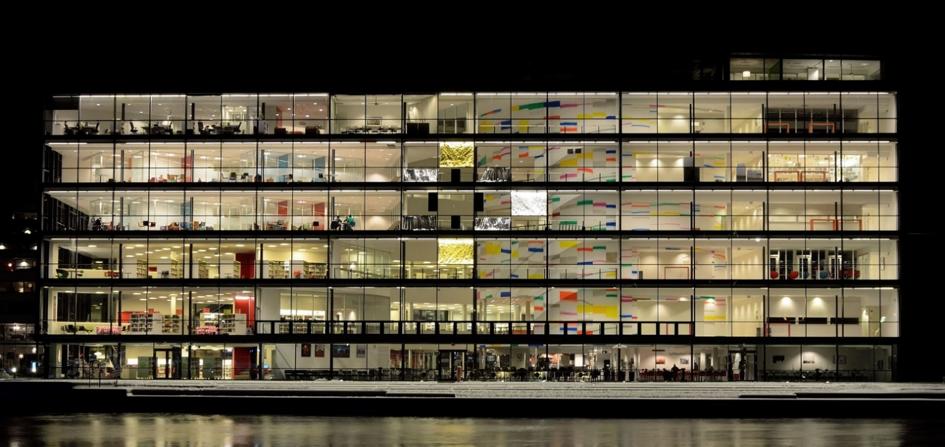 Drammensbiblioteket, oppført 2006. Fotograf: Knut Arne Gjertsen.