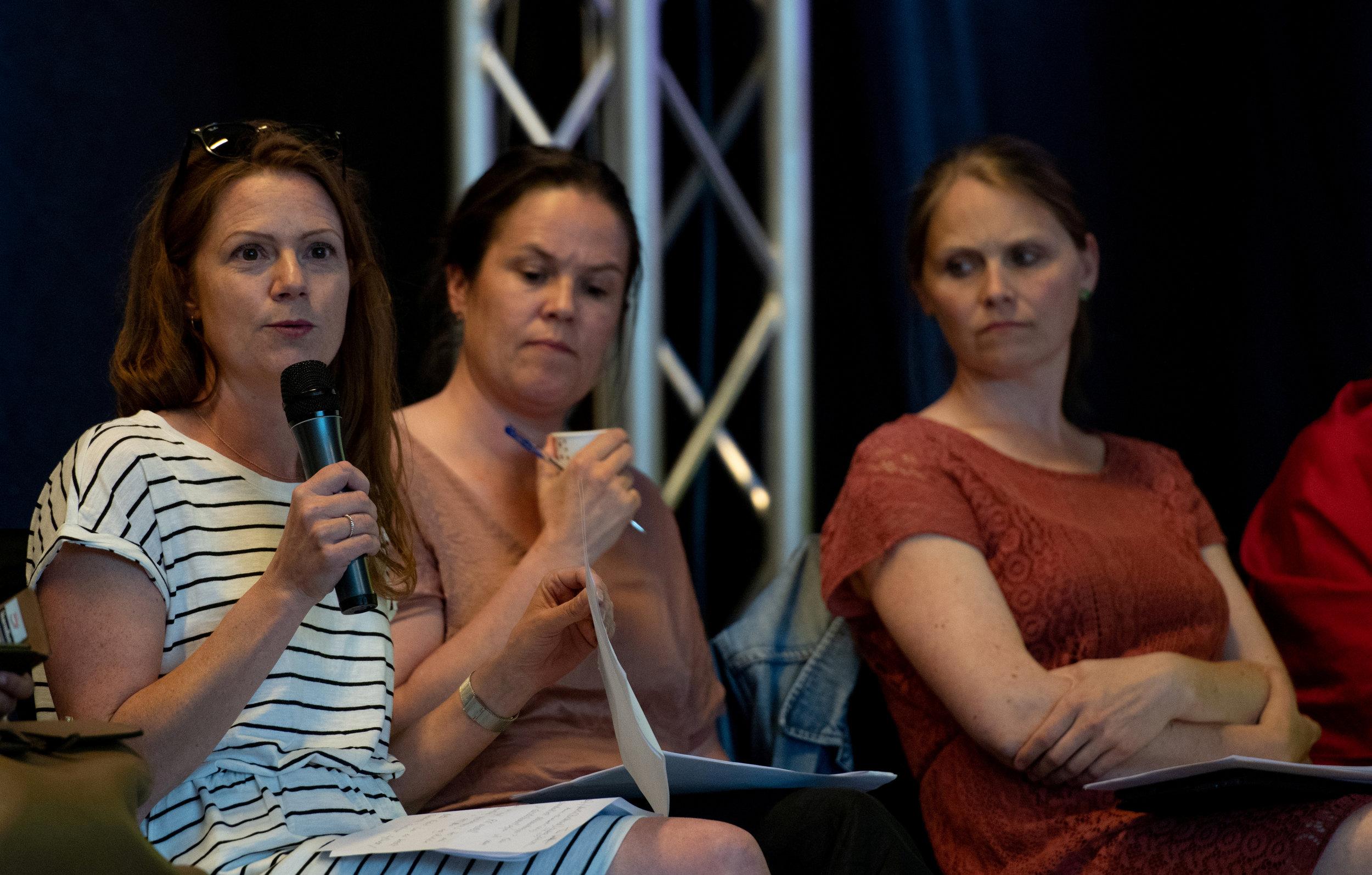 Lil Carin Jacobsen fra Buskerud fortalte om utfordringer knyttet til det smale versus det populære og ekstroverte tilbudet i DKS
